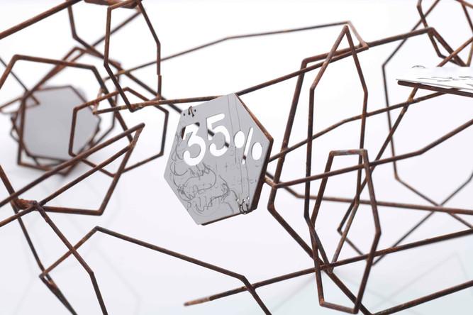 Pollinators, Collect 2021 presented by Design Nation 65cm x 108cm x 50cm Steel, copper, enamel (Detail)