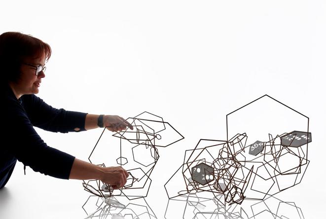 Pollinators, Collect 2021 presented by Design Nation 65cm x 108cm x 50cm Steel, copper, enamel