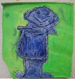 Portrait plaster tile
