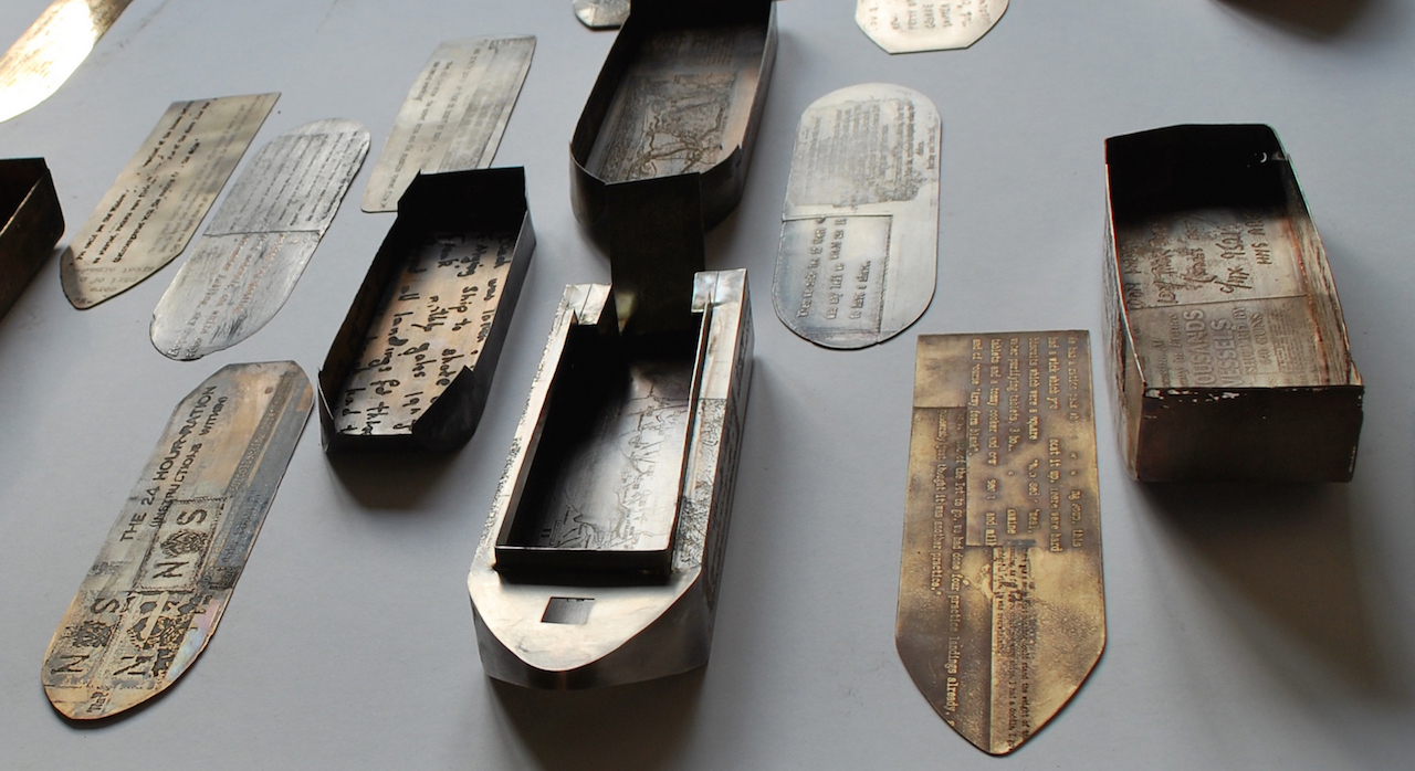 D Day 70 Etched and patinated guilding metal, brass and pewter