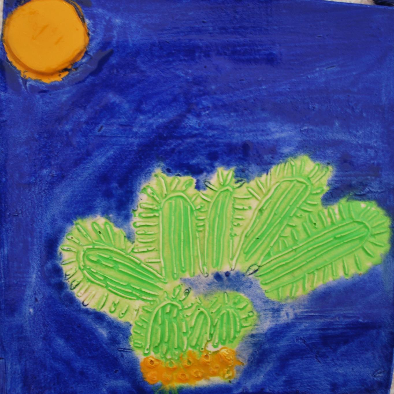 Cactus plaster tile