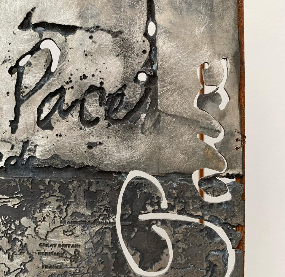 Making Peace, Steel and pewter, 2019 ( D