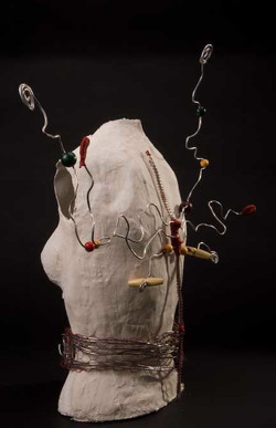 Wire, tissue paper and string piece