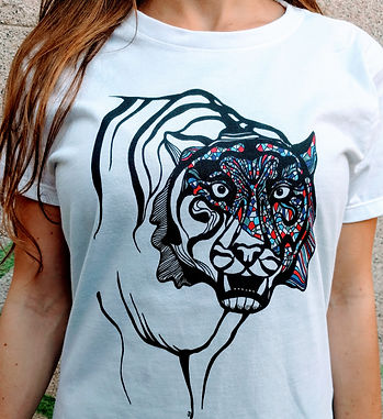 TIGER T-SHIRT KENZO FASHION ANIMAL LOVER
