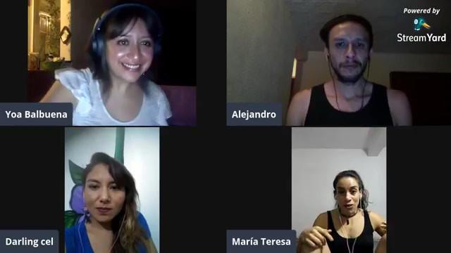 Charla con Darling Lucas, Alejandro Huicochea y María Teresa Vázquez