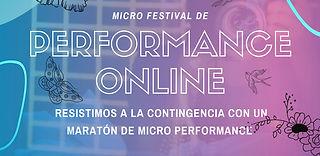 Micro Festival de Performance Online
