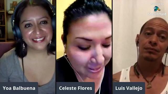 Charla con Celeste Flores y Luis Vallejo