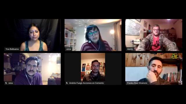Charla sobre performatividad social con artistas escénicos desde CHILE