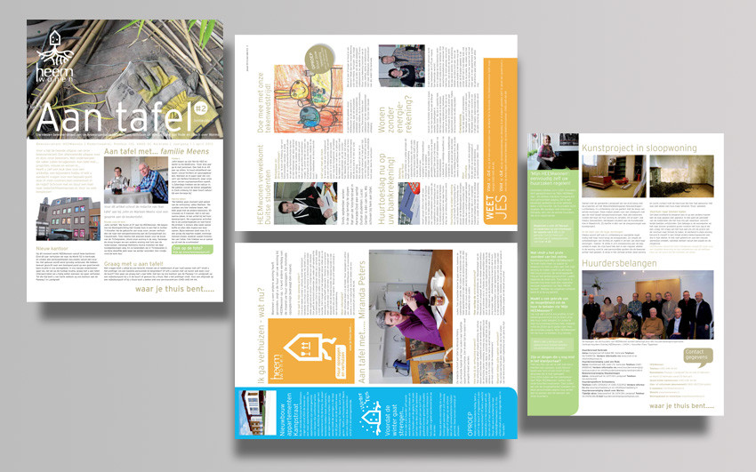 Graphic design of the residents' magazine