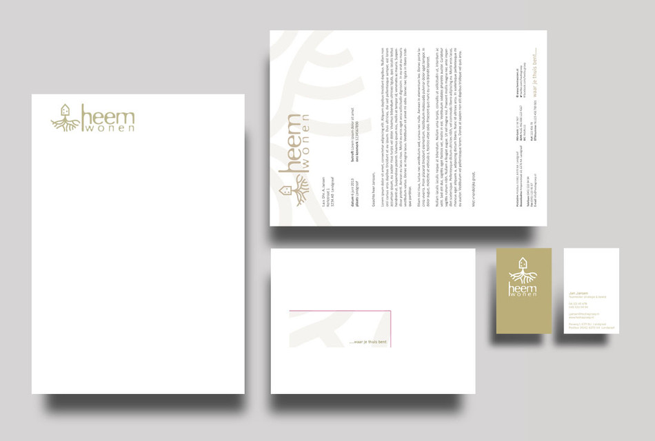 Writing paper and businesscard
