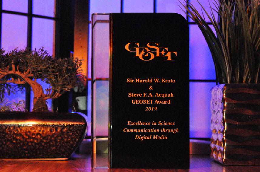 2019 Sir Harold W. Kroto & Steve F. A. Acquah GEOSET Award