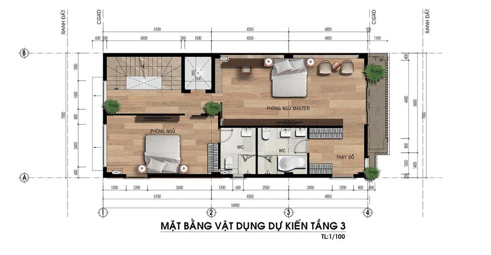 Bố trí mặt bằng tầng 3 SHOPHOUSE Q5- 56