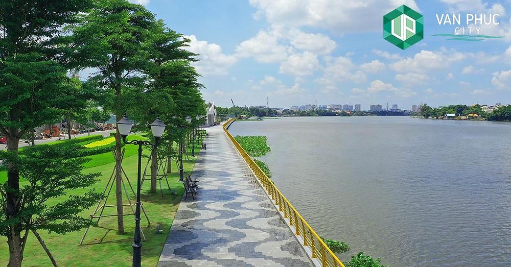 Tuyến đi bộ ven sông dài nhất TpHCM tại Khu Đô Thị Vạn Phúc