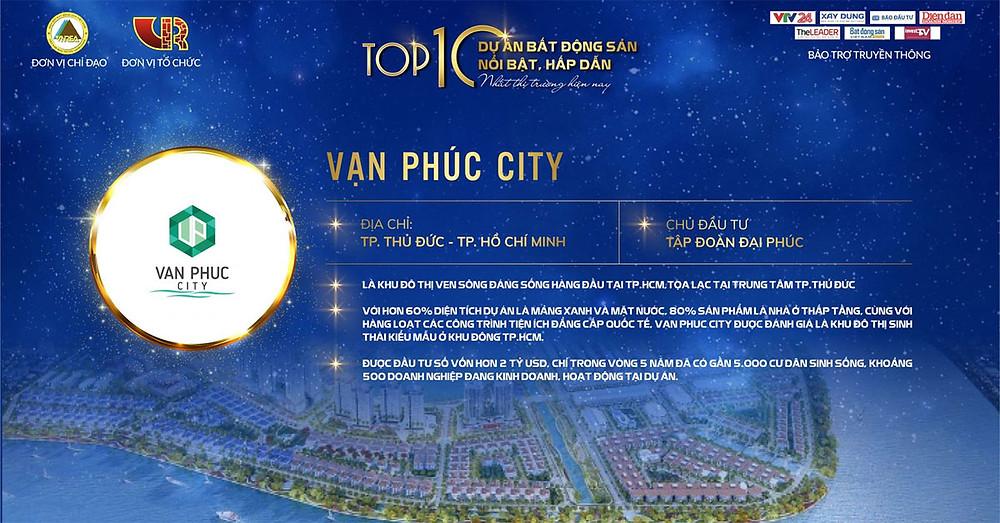 Khu đô thị Vạn Phúc - Top 10 dự án BDS hấp dẫn tại Việt Nam