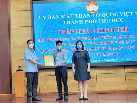10 ngàn phần qùa được Van Phuc Group trao tặng cho các hộ khó khăn do Covid-19