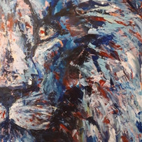 Montes, de la serie animales, 2016, acrílico sobre lienzo, 82 x 56 cm
