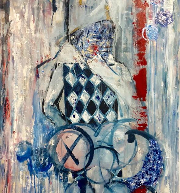 Mipi, 2019, acrílico sobre lienzo, 140 x 90 cm