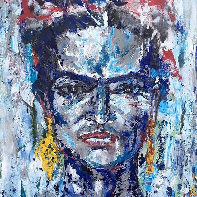 Frida, 2018, Acrílico sobre lienzo, 120 x 90 cm