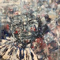 Arlequin 2, 2019, acrílico sobre lienzo,100 x 90 cm