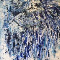 Kosher, de la serie animales, 2018, acrílico sobre lienzo, 130 X 90 cm