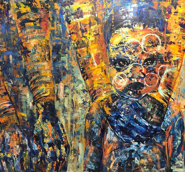 NatGeo, 2014, acrílico sobre lienzo, 150 x 100  cm