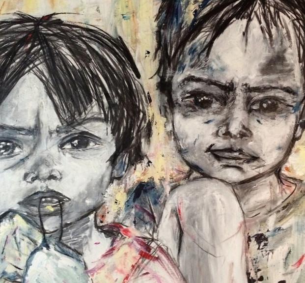 Claru, 2015, acrílico sobre lienzo, 100 x 80 cm