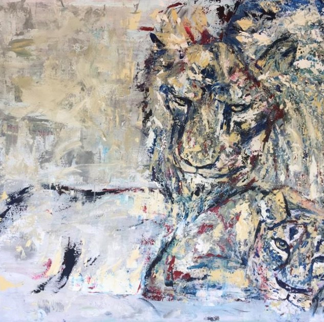 Pablito, de la serie animales, 2018, acrílico sobre lienzo, 100 x 150 cm