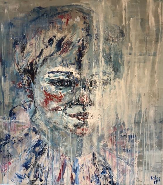Arlequin 1, 2019, acrílico sobre lienzo, 100 x 90 cm