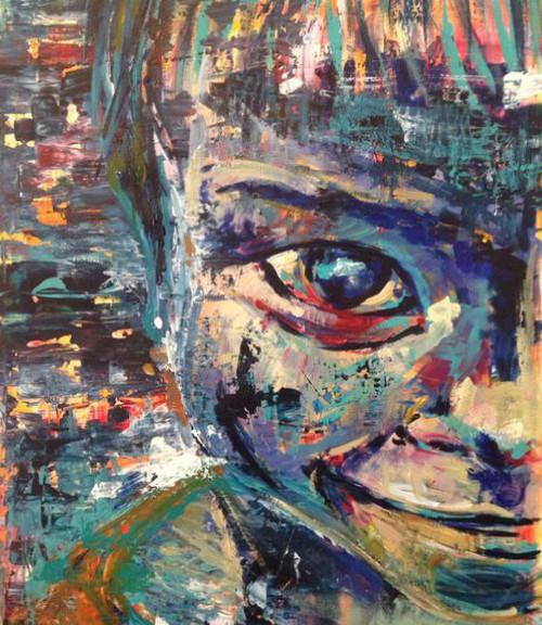 Cucky, 2014, acrílico sobre lienzo, 82 x 56 cm
