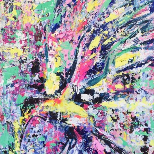 Luis, de la serie animales, 2018, acrílico sobre cartulina, 82 x 56 cm
