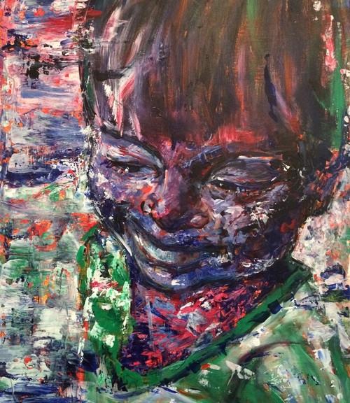 Belu, 2014, acrílico sobre lienzo, 82 x 56 cm
