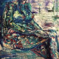 Sin título, 2019, acrílico sobre lienzo, 64 x 54 cm