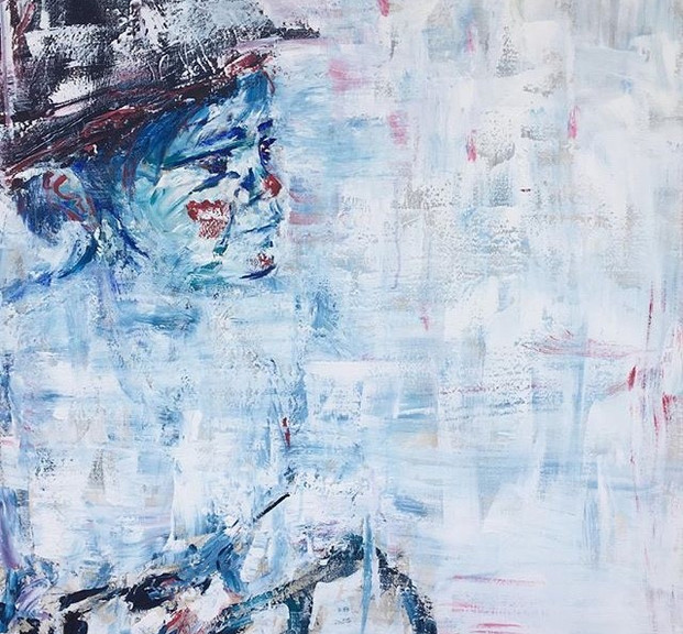 Bauti, 2018, acrílico sobre lienzo, 130 x cm