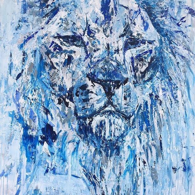 Jorge, de la serie animales, 2018, acrílico sobre lienzo, 130 x 90 cm