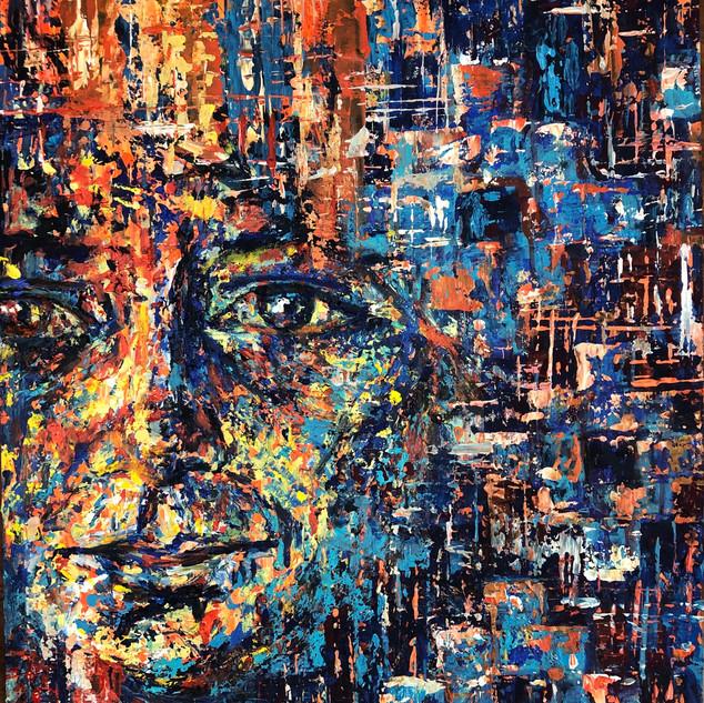 Domi, 2020, Acrílico sobre papel, 82 x 56 cm