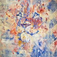 Rojo, 2019, acrílico sobre lienzo,130 x 90 cm