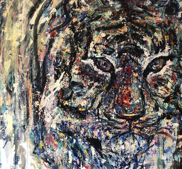 Justo, 2019, acrílico sobre lienzo,120 x 100  cm