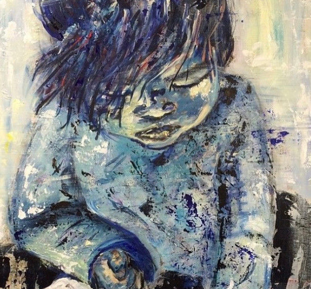 Conejo, 2015, acrílico sobre lienzo,100 x 70 cm
