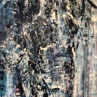 Tiempo, 2019, Acrílico sobre lienzo, 140 x 90 cm
