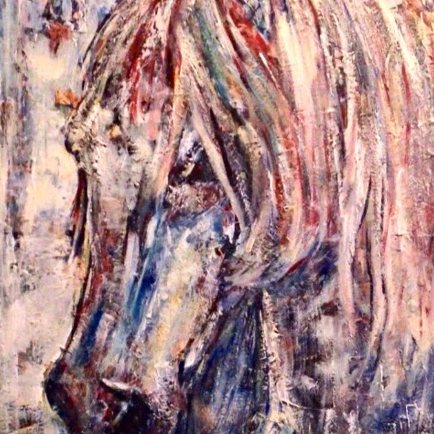 Pauli, la serie animales, 2014, acrílico sobre lienzo, 82 x 56 cm