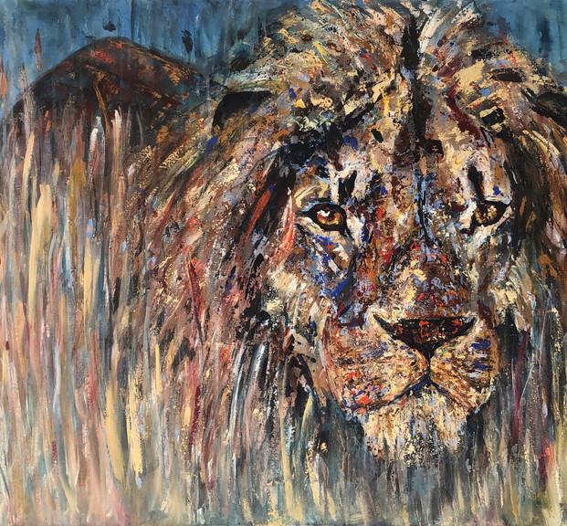 Shovi, 2020, acrílico sobre lienzo, 160 x 100 cm