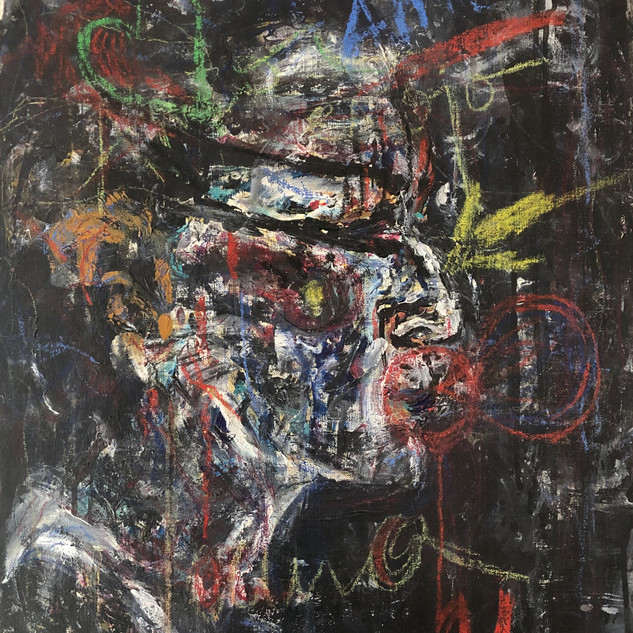 Mi Paris, 2020, acrilico sobre lienzo, 64 x 54 cm.