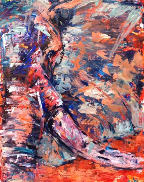 Sole, de la serie animales, 2014, acrílico sobre lienzo, 82 x 56 cm