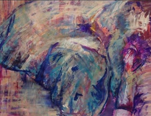 Jochi, de la serie animales, 2014, acrílico sobre lienzo, 56 x 82 cm