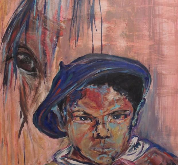 Marianita, 2015, acrílico sobre lienzo, 100 x 60 cm