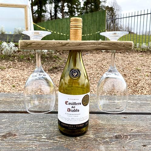Wine glass & bottle holder