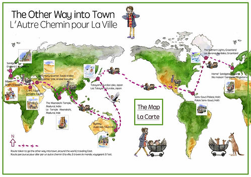 The Other Way to town - New story by Les Puces - French Classes for kids After School clubs, find out more at www.lespuces.co.uk