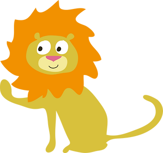 Roary Lion from the book Arty on Safari by Les Puces