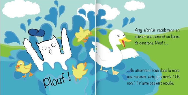 Bilingual French English  childrens books ages 3-11 years, kids, easy reader, on the farm