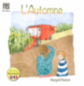 L'Automne or Autumn is a Bilingual French English childrens, kids, book for ages 3-11 years with a story about autumn, published by Les Puces Ltd to go with thier French classes as well as online and home learning courses